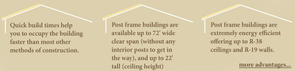 Post frame building advantages