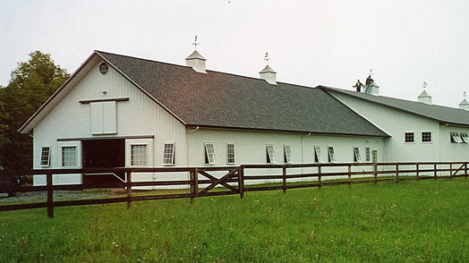 post frame horse barn